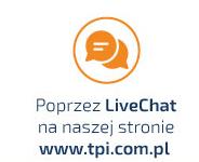 Doradzamy poprzez LiveChat  >> SPRAWDŹ